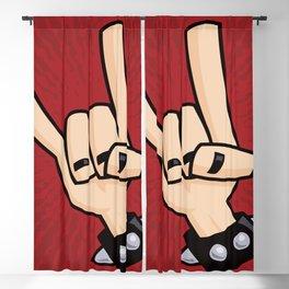 Heavy Metal Devil Horns Hand Sign Blackout Curtain