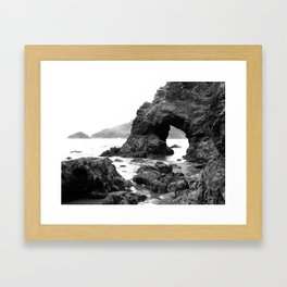 Low Tide Length by Jessi Fikan Black and White Framed Art Print