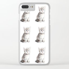 Kittens Forever Clear iPhone Case
