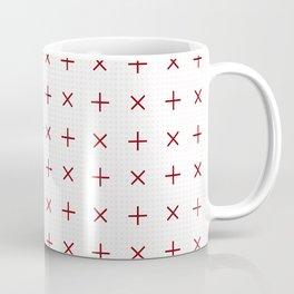 Pluses and Crosses Coffee Mug