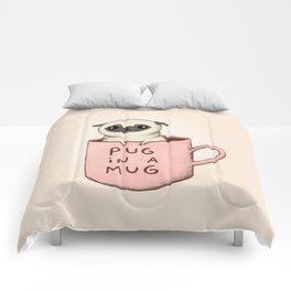 Pug in a Mug Comforters