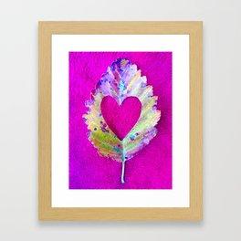 Leaf Heart Framed Art Print