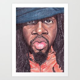Wyclef Jean The Fugees Art Print