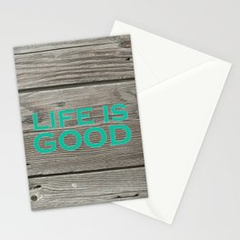 Life is Good_Wood Stationery Cards