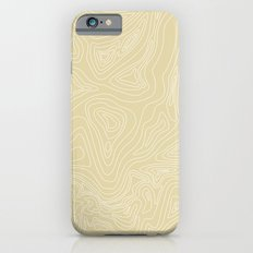 Ocean depth map - sand Slim Case iPhone 6s