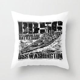 Battleship Washington Throw Pillow