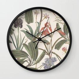 Botanical Stravaganza (variant). Wall Clock