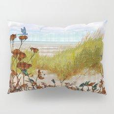 Plaid Beachscape with Seagrass Pillow Sham