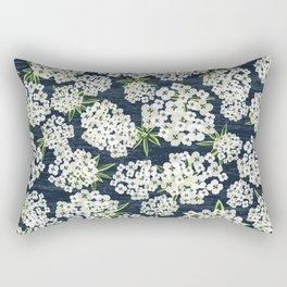 Alyssum - Navy & White Rectangular Pillow