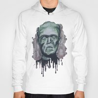 frankenstein Hoodies featuring Frankenstein by Shellie Mix