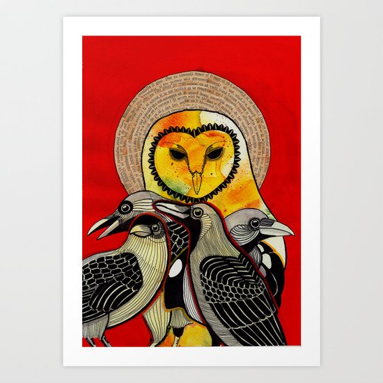 Kuslar Art Print