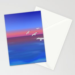 Where the ocean meets the sky Stationery Cards