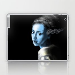 Girl With Lightning Trace Streaks On The Side Of Her Head Laptop & iPad Skin