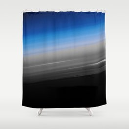 Blue Gray Smooth Ombre Shower Curtain