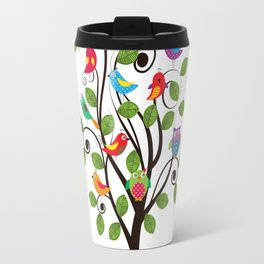 Colorful birds Travel Mug