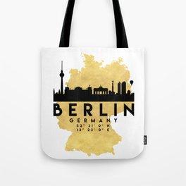 BERLIN GERMANY SILHOUETTE SKYLINE MAP ART Tote Bag