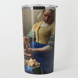 The Milkmaid, Johannes Vermeer, c. 1660 Travel Mug