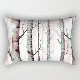 Birch Tree Forest Rectangular Pillow