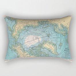 Vintage Arctic Map Rectangular Pillow