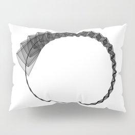 Line ZEN minimal harmony graphic white black geometry silk Pillow Sham
