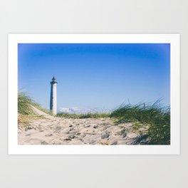 Nantucket Beach Lighthouse Art Print