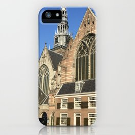 The Old Church of Amsterdam iPhone Case
