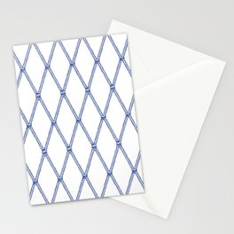 Nautical Fishing Net (White and Navy) Stationery Cards