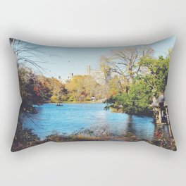 Central Park Lake Rectangular Pillow