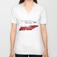 tennessee V-neck T-shirts featuring Tennessee Volunteers by megan matthews
