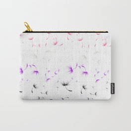 Dandelion Seeds Genderfluid Pride (white background) Carry-All Pouch