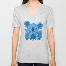 Blue Baby Koala Unisex V-Neck