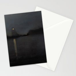 Nocturne by James Abbott McNeill Whistler - Retro Vintage Fine Art Stationery Cards