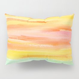 Summer Sunset Abstract Painting Stripes Pattern Modern - Be Yourself And Fall In Love Pillow Sham