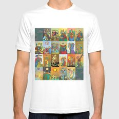 Tarot of Marseilles MEDIUM Mens Fitted Tee White