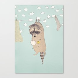 Wasbeer Canvas Print