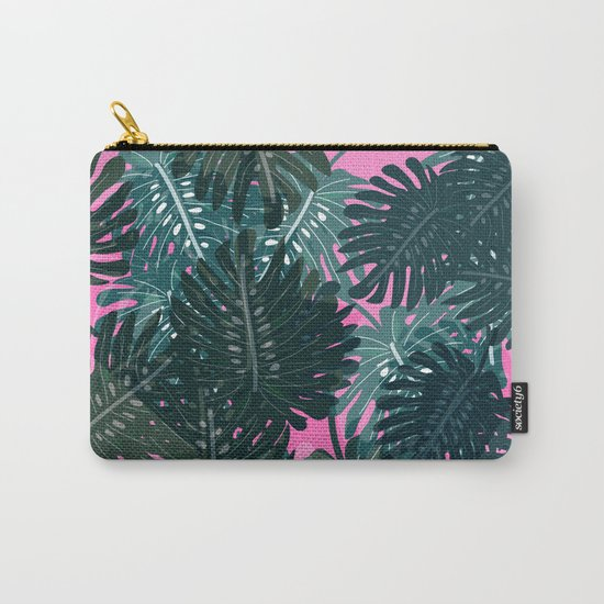 Palm Leaves Pattern Carry-All Pouch