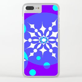A Winter Snowy Design with Pretty Snowflakes Clear iPhone Case