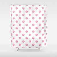 polka dot Shower Curtains featuring Polka Dot by Ryan Winters