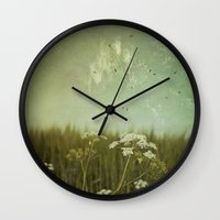 fringe Wall Clocks featuring Fringe II by Dirk Wuestenhagen Imagery