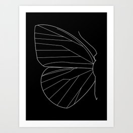 Butterfly Line Art Art Print