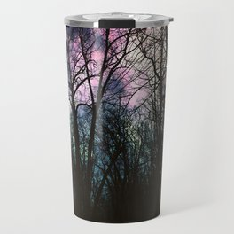 Auroras in the Woods Travel Mug