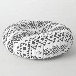 Native American Ethnic Pattern BW Color Floor Pillow