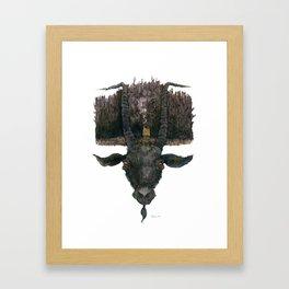 Black Phillip Live Deliciously Framed Art Print