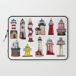 Watercolor lighthouses of world Laptop Sleeve