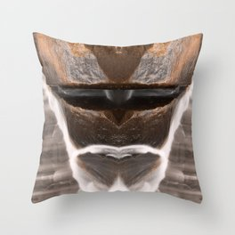 Alien Tribal Mask Throw Pillow