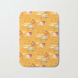 Skateboarders Holiday Pattern Bath Mat