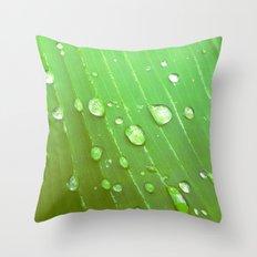 Jungle Drops. Throw Pillow