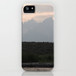 Grand Tetons by the Snake River iPhone Case