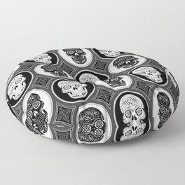 Skulls Calaveras Day of the Dead Dia de los Muertos Floor Pillow
