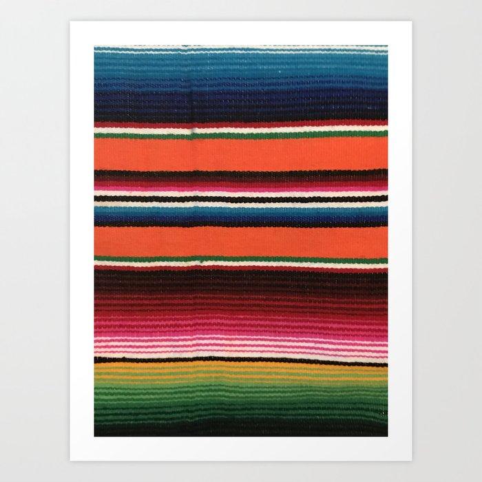 BEAUTIFUL MEXICAN SERAPE Kunstdrucke